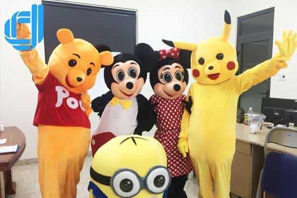 Cho thuê thú nhồi bông nhân vật hoạt hình mascot tại Đà Nẵng