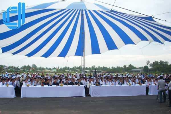 Dịch vụ cho thuê phông bạt tổ chức sự kiện tại Đà Nẵng D2Media